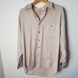YSL Beige Ultra Light Casual Button Down Shirt